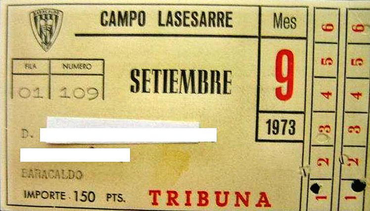 abono Lasesarre Barakaldo C.F. 1973