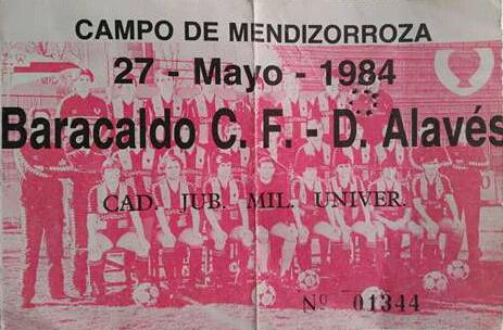 Alavé Barakaldo CF 1984
