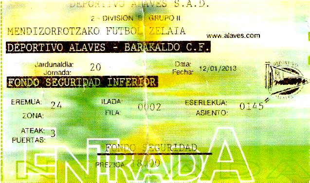Alaves Barakaldo Mendizorroza entrada 2013