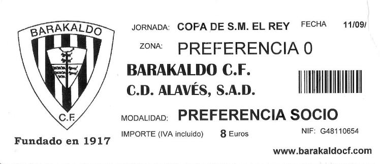 Barakaldo CF Alavés Copa