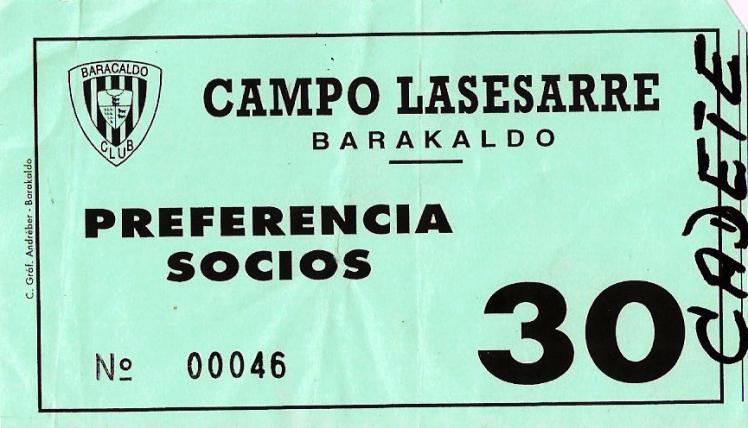 Barakaldo CF - Sestao entrada 1995