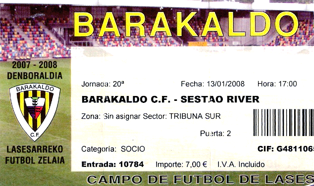 Barakaldo CF Sestao River Lasesarre entrada 2008