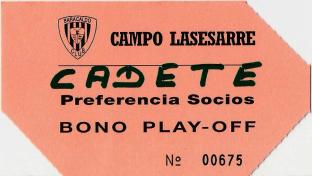 Bono play-off Lasesarre 1994 Barakaldo CF
