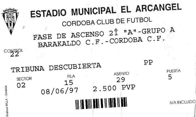 Córdoba Barakaldo CF el arcángel 1997