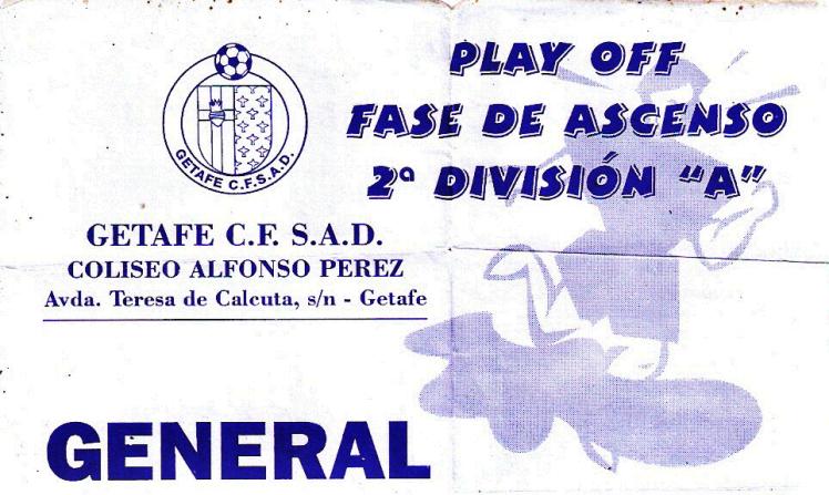 entrada getafe Barakaldo CF 1999