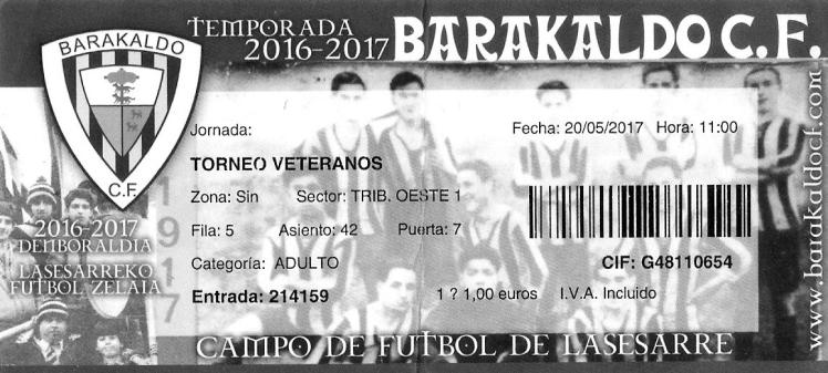 Entrada lasesarre horibaltza 2017 centenario Barakaldo CF
