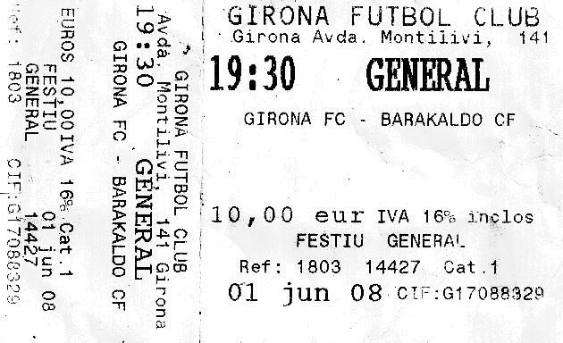 Girona Barakaldo 2007-08 Montilivi play-off entrada