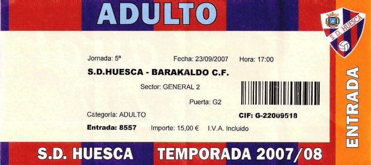 Huesca Barakaldo CF entrada 2008