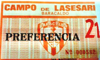 Lasesarre años 80 entrada Barakaldo C.F