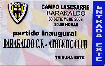 lasesarre entrada inaugural 2003