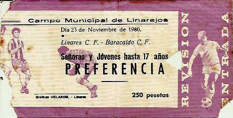 Linares Barakaldo Cf 1980 entrada linarejos