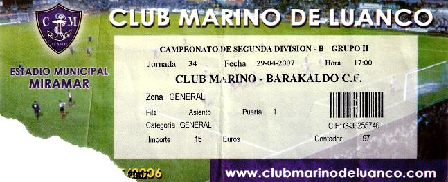 Marino Luanco Barakaldo Cf entrada 2007
