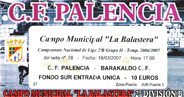 Palencia Barakaldo CF entrada 2007