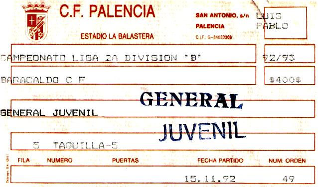 Palencia Barakaldo CF entrada 92
