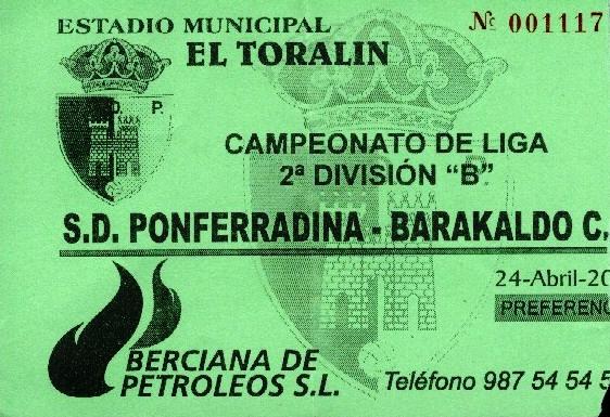 Ponferradina Barakaldo CF entrada 2002