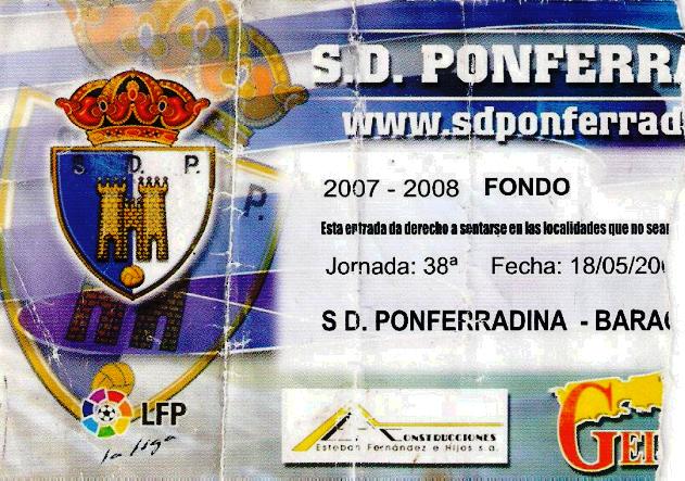 Ponferradina Barakaldo CF entrada 2008