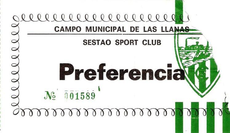 Sestao Sport River Barakaldo CF 1994 entrada Las Llanas
