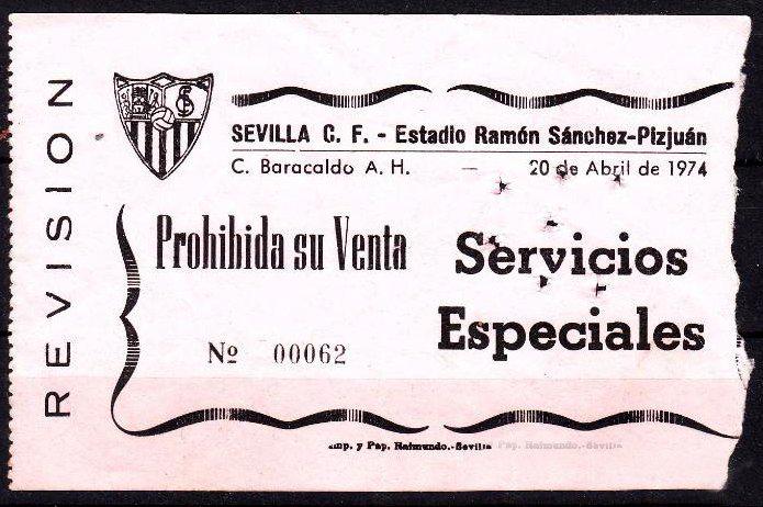 Sevilla CF Barakaldo CF 1974