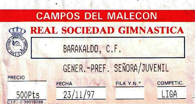 Torrelavega Barakaldo CF entrada 1997 el malecón
