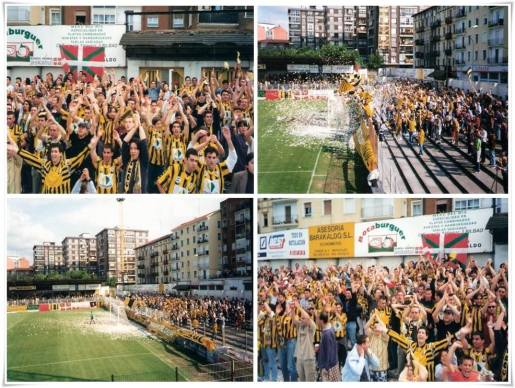 Ambientazo en el play-off de la temp. 1998/99 frente al Getafe C.F.