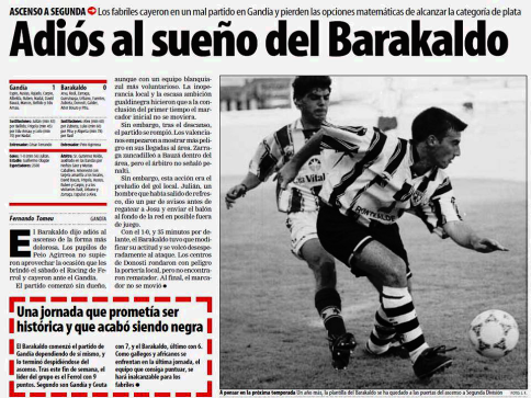 Gandia Barakaldo CF 1999-00