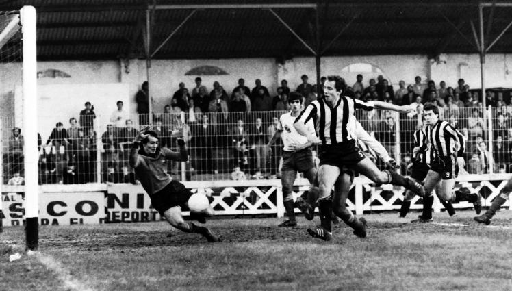 Iñigo Liceranzu. Gol en Lasesarre Barakaldo C.F. 1980
