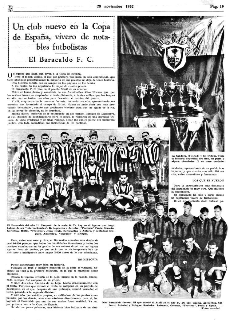 Barakaldo CF 1932 Historico BararakaldoCF